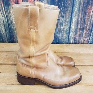 Uitgelezene Dr. Adams Shoes | Dr Adams Mens Tan Leather Round Toe Cowboy Boots XU-71